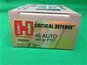 HORNADY CRITICAL DEFENSE 45ACP 185gr 20rds